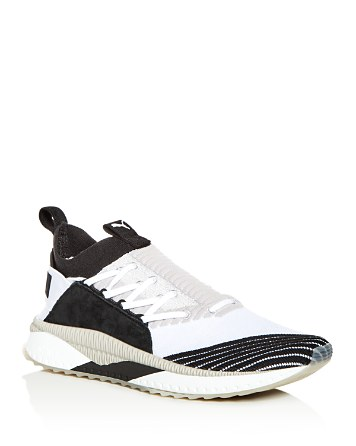 $PUMA Men's Tsugi Jun Cubism Knit Lace Up Sneakers - Bloomingdale's