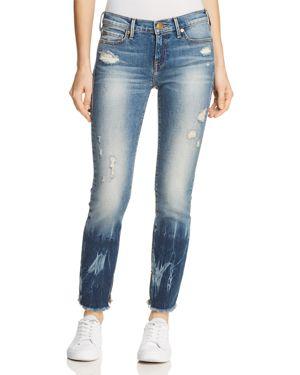 True Religion Sara Mid Rise Cigarette Jeans in Winter Blues