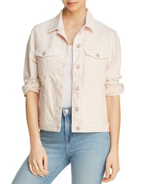 MAVI Katy Denim Jacket In Heavenly Pink Distressed - 100% Exclusive
