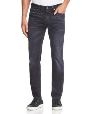 Boss Delaware Cashmere Touch Slim Fit Jeans in Dark Gray 2759271