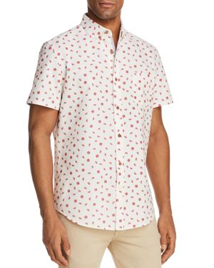 Sovereign Code Crystal Cove Watermelon Short Sleeve Button-Down Shirt
