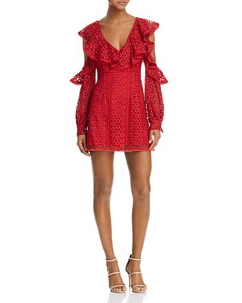 FRENCH CONNECTION - Massey Cold-Shoulder Lace Dress