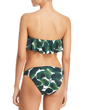 MILLY - Ruffled Banana Leaf Print Bikini Top & St. Lucia Banana Leaf Print Bikini Bottom