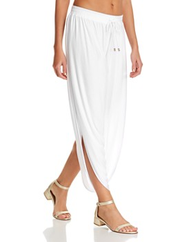 8e1771d24b8b8 Laundry by Shelli Segal - Solid Draped Swim Cover-Up Pants ...