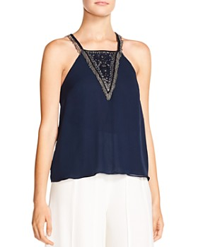 Haute Hippie - Through The Looking Glass Embellished Silk Top