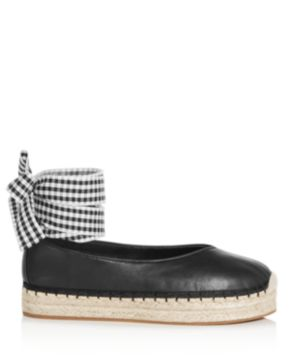 AVEC LES FILLES Women's Georgie Leather Ankle Tie Platform Espadrille Flats hPEHzMTHe