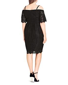 City Chic Plus - Off-the-Shoulder Lace Dress