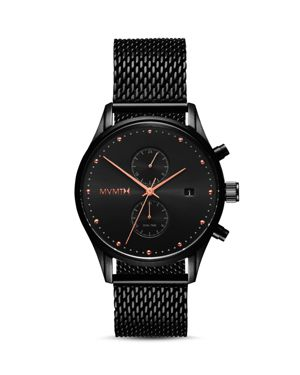 Voyager Chronograph Mesh Strap Watch, 42Mm, Black