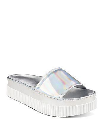 Kendall + Kylie - Women's Isla Metallic Platform Slide Sandals