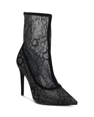 Kendall and Kylie Women's Alanna Lace Pointed Toe Booties