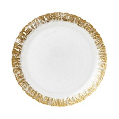 VIETRI - Rufolo Glass Gold Salad Plate