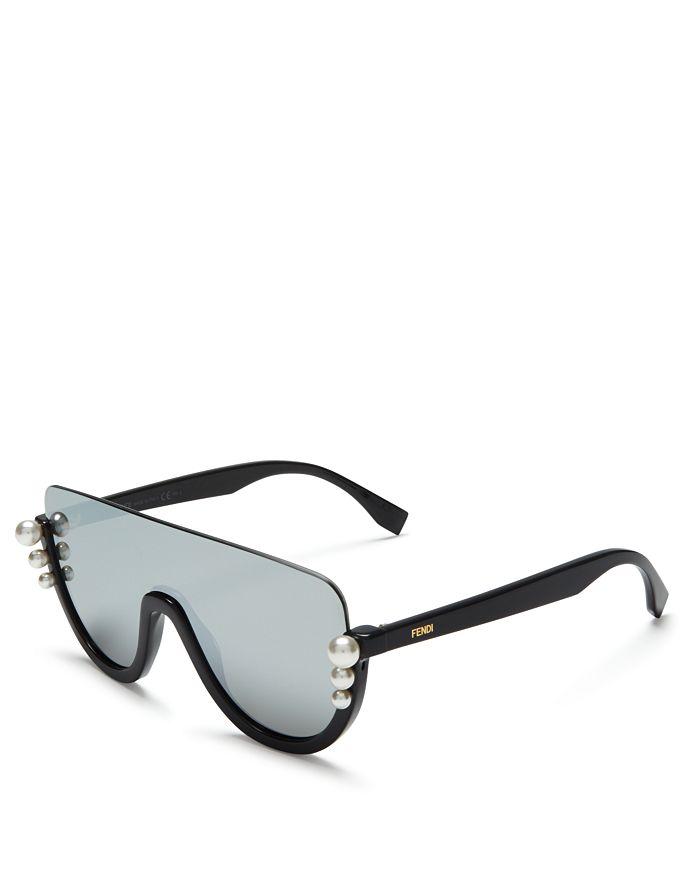1bf1104622116 Fendi - Women s Embellished Mirrored Shield Sunglasses