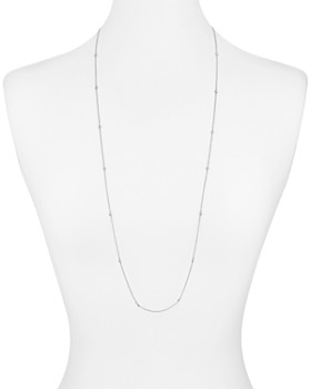 """AQUA - Sterling Silver Thin Chain Necklace, 36"""" - 100% Exclusive"""