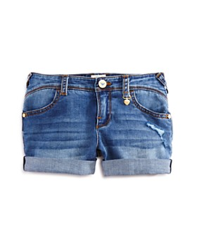 Armani Junior - Girls' Medium-Wash Denim Shorts - Big Kid