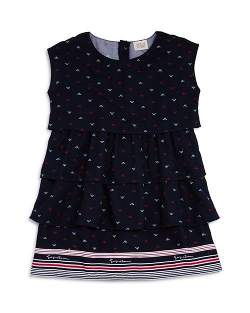 Armani Junior - Girls' Tiered Logo-Print Dress - Big Kid
