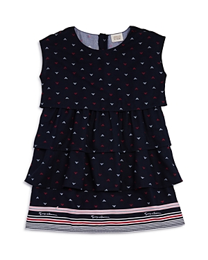 Armani Junior Girls' Tiered Logo-Print Dress - Big Kid