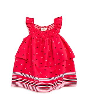 Armani Junior Girls Tiered Logo Dress  Baby