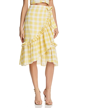 Red Carter Luclia Midi Wrap Skirt