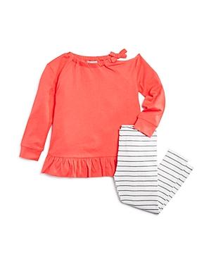 Splendid Girls' Distressed Long-Sleeve Tee & Striped Leggings Set - Little Kid