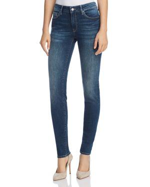 MAVI JEANS Adriana Mid Rise Super Skinny Jeans In Shaded Tribeca