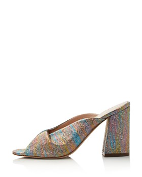 Loeffler Randall - Laurel Shimmer Block Heel Slide Sandals - 100% Exclusive