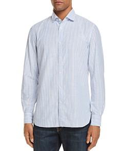 Eidos - University Stripe Washed Regular Fit Button-Down Shirt