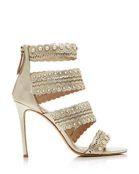 Pour La Victoire - Women's Ellura Embellished Leather High-Heel Sandals