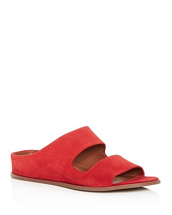 Aquatalia - Women's Abbey Weatherproof Suede Hidden Wedge Slide Sandals