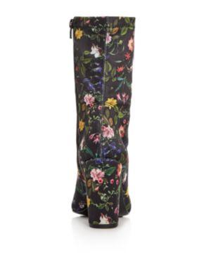 Kenneth Cole Women's Alyssa Floral Print High Block Heel Booties CVJVSg8zI