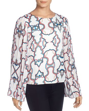 CATHERINE Catherine Malandrino - Deni Pleated-Sleeve Blouse