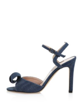 Sjp Women's Ferry Denim High-Heel Ankle Strap Sandals - 100% Exclusive GQuyF6SmRd