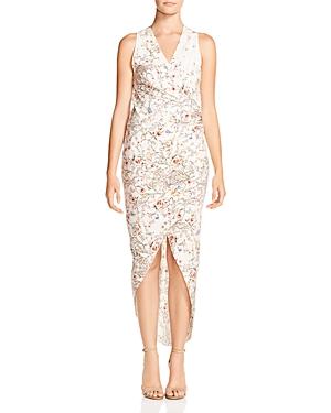 Haute Hippie Miranda Faux-Wrap Floral-Print Midi Dress
