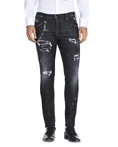 DSQUARED2 Slim Fit Jeans in Distressed Black - Bloomingdale's_0