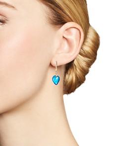 Olivia B - 14K Yellow Gold Swiss Blue Topaz Cabochon & Diamond Drop Earrings - 100% Exclusive