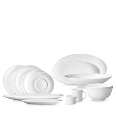 Corde White Wide Charger Plate