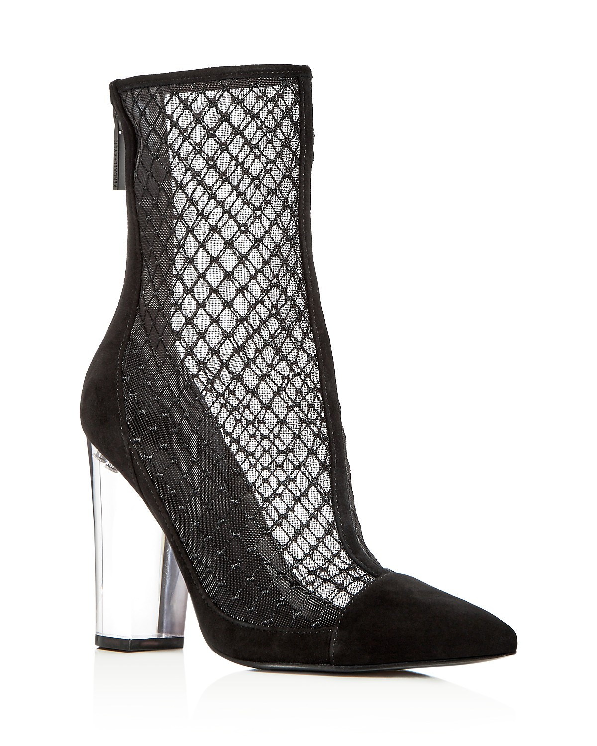 Kendall And Kylie Women's Haven Embroidered Mesh & Suede High Block Heel Booties - 100% Exclusive Exclusive 5FQqm0W6T