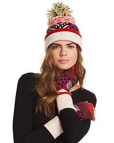 Burberry Mixed Fair Isle Beanie & Gloves - Bloomingdale's_0