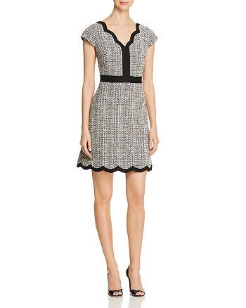 kate spade new york - Scalloped Tweed Dress