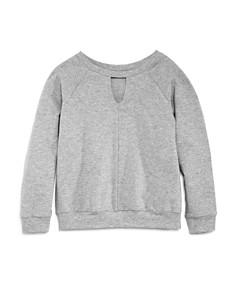 AQUA Girls' Sweatshirt with Keyhole Front, Big Kid - 100% Exclusive - Bloomingdale's_0