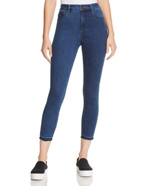 PARKER SMITH CROPPED SKINNY JEANS IN BLUE HAZE