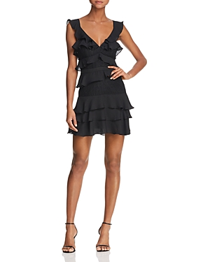 Bardot Lace-Inset Ruffled Dress