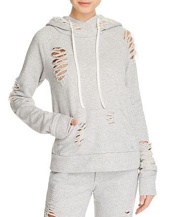 Alo Yoga - Distressed Hooded Sweatshirt