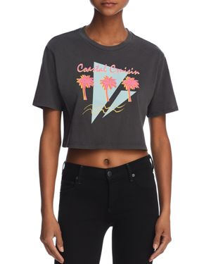 DESERT DREAMER Coastal Cruisin Cropped Graphic Tee - 100% Exclusive in Washed Black