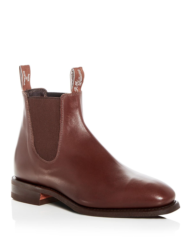 R.M.WilliamsMen's Leather Chelsea Boots JG83U010o9