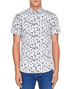 Ted Baker - Saquili Floral Print Regular Fit Button-Down Shirt