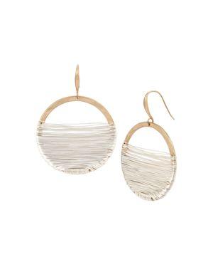 Robert Lee Morris Soho Two-Tone Wire Wrap Circle Earrings
