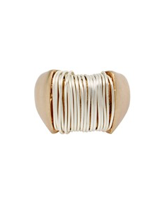 Robert Lee Morris Soho - Two-Tone Wrap Metal Ring