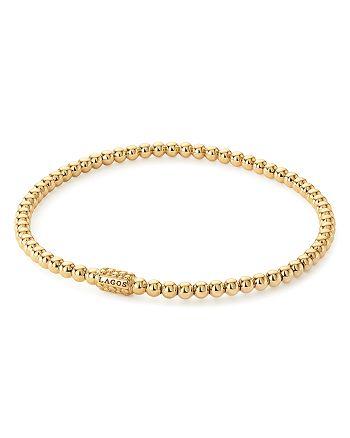 LAGOS - Caviar Gold Collection 18K Gold Beaded Bracelet, 3mm