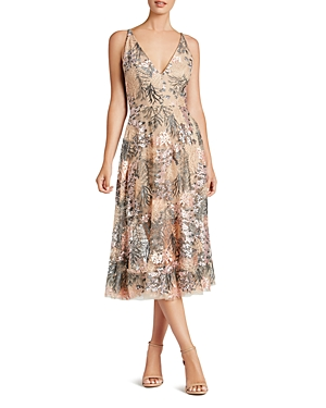 Dress the Population Audrey Embroidered Dress
