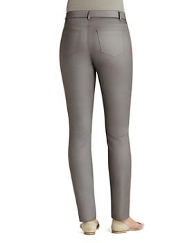 Lafayette 148 New York - Curvy Slim Leg Coated Jeans in Mason